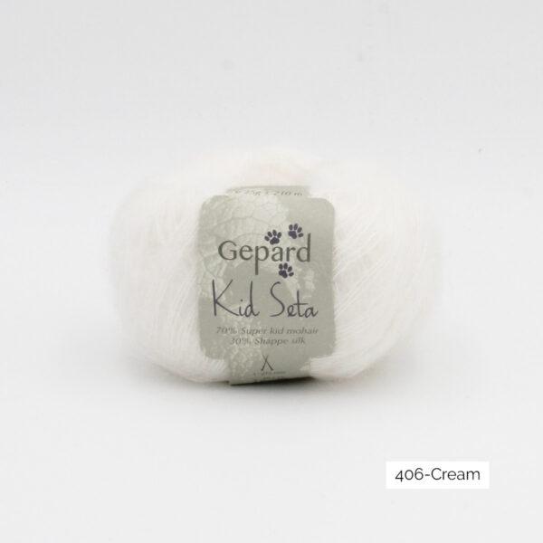 Une pelote de Kid Seta de Gepard Garn coloris Cream