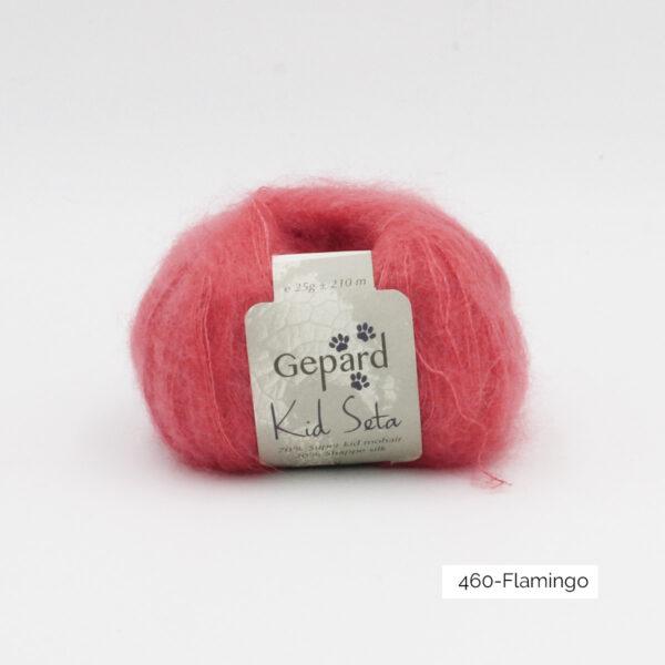Une pelote de Kid Seta de Gepard Garn coloris Flamingo
