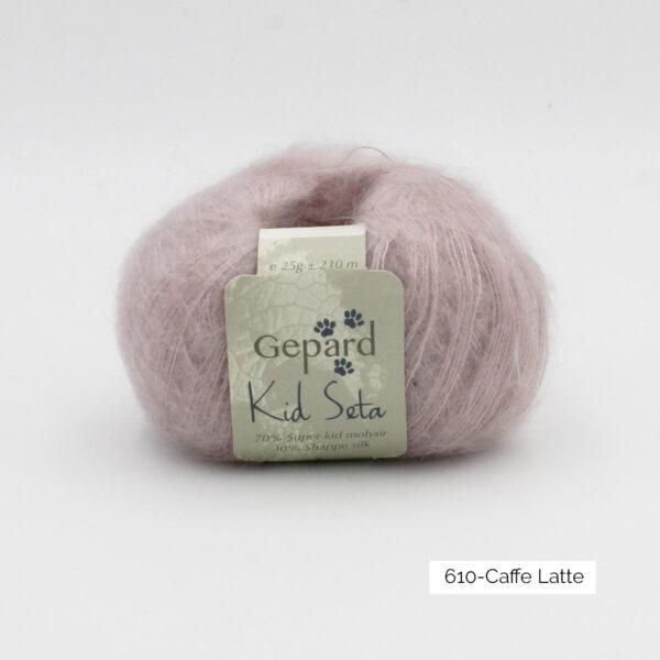 Une pelote de Kid Seta de Gepard Garn coloris Caffe Latte
