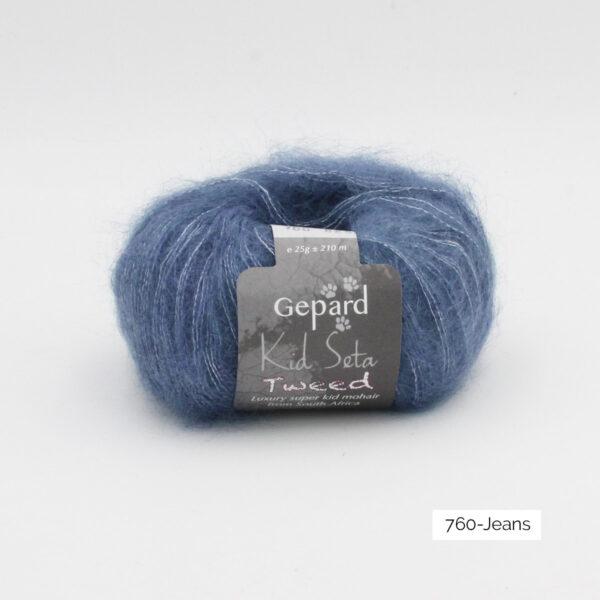 Une pelote de Kid Seta de Gepard Garn coloris Jeans