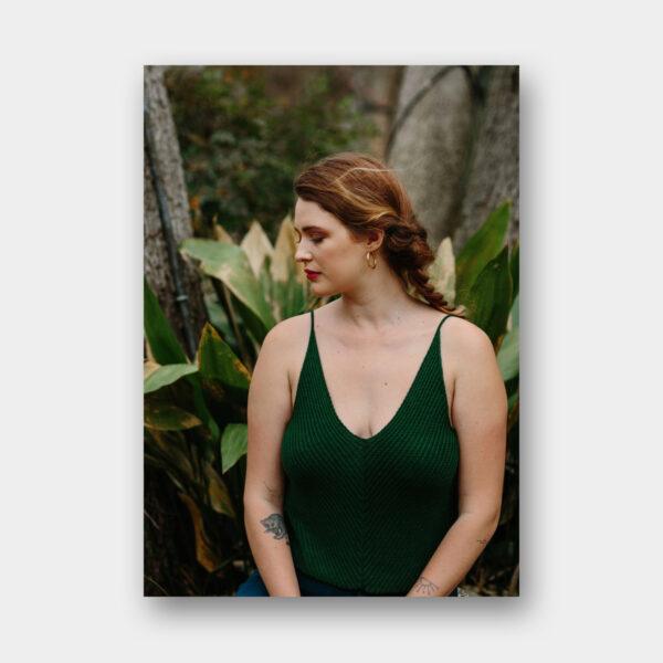 Présentation du modèle de débardeur Reifel de Carlie Olfert, patron de tricot paru dans le magazine Pom Pom Quarterly 37