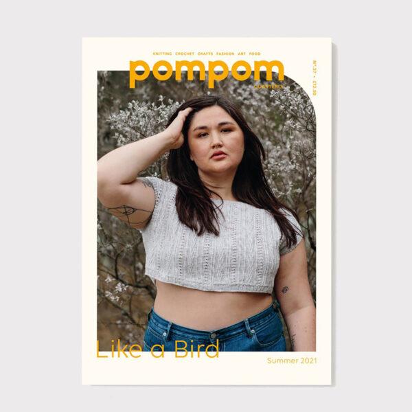 Couverture du numéro 37 été 2021 du magazine de tricot Pom Pom Quarterly