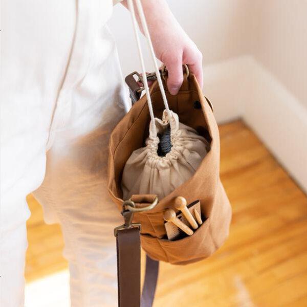 Intérieur du sac à projets Bucket Bag de Twig & Horn